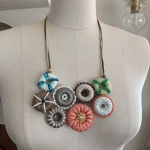 "Anthropologie Embellished Circles necklace 23-25"""